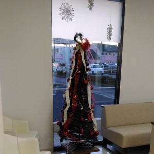 待合室のクリスマスツリー